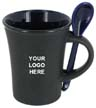 BLK-ICO-246 - 9 Oz. Hilo Collection Matte Spoon Mug w/Color Interior