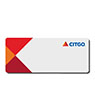 CT2-FCB-1230-MB - CITGO Blank Name Badges w/Magnet Back(pack of 10)